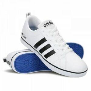 Adidas Men's Size 9 White Black Skater Sneakers